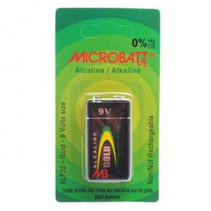 Lot de 9 Piles alcaline 6F22, 6LF22 9V