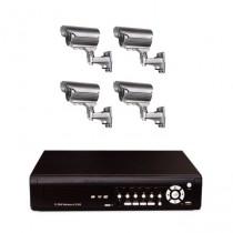 Système camera vidéosurveillance 4 caméras pour entrepôt