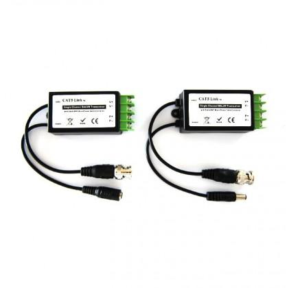 2 Pièces 1 canal vidéo BNC et 1 canal électrique mâle/femelle pour caméra de vidéo-surveillance