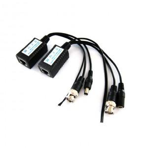 2 pièces vidéo transmetteur BNC+ électrique+ conection RS-485 en RJ45 pour caméra de vidéo surveillance