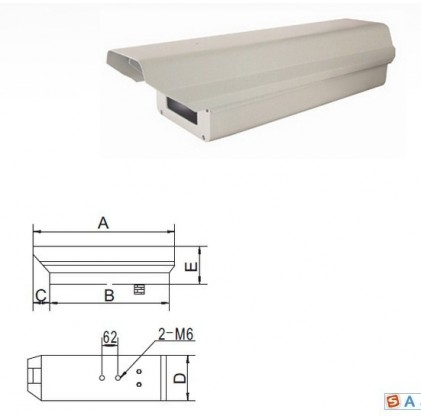 Boitier de protection extérieur IP66 avec chauffage et essuie-glace pour caméra
