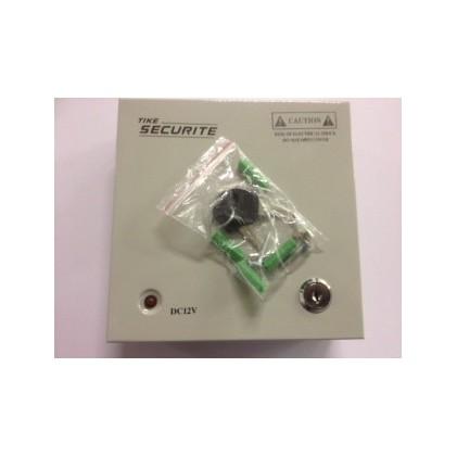 Boitier electrique entrée 110-220V, 4 sorties 12 V 3A