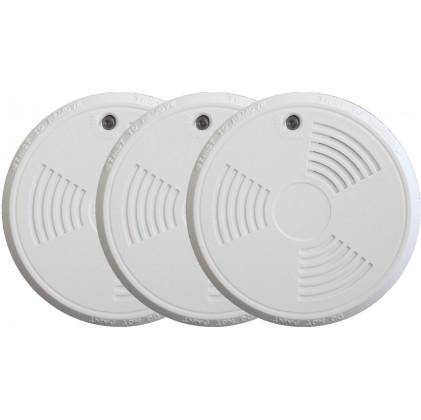 Pack de 3 détecteurs de fumée tike sans fil norme EN14604