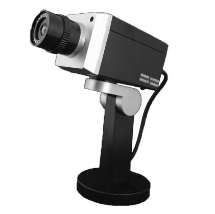 Caméra factice rotative noir