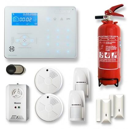 Alarme maison sans fil RTC/IP et option GSM ICE-B7