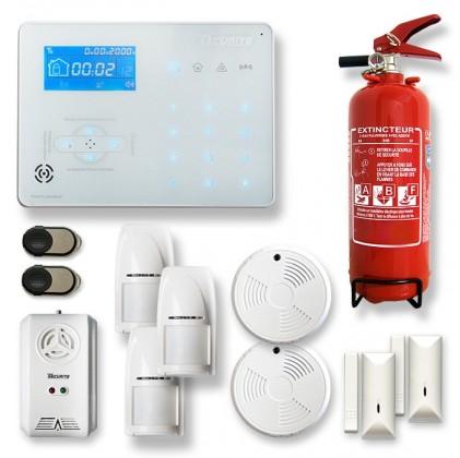 Alarme maison sans fil RTC/IP et option GSM ICE-B9