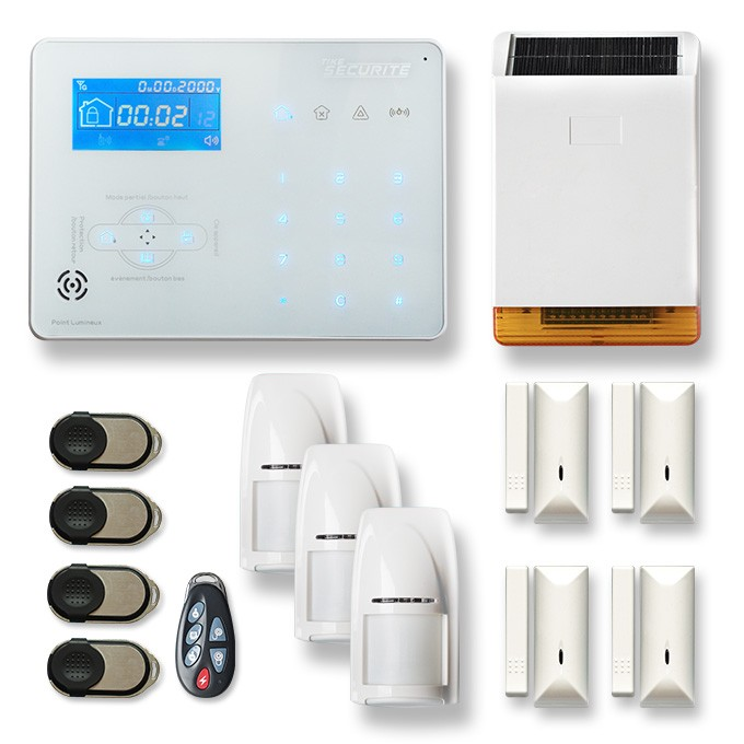 Alarme maison sans fil RTC/IP et option GSM ICE-B6