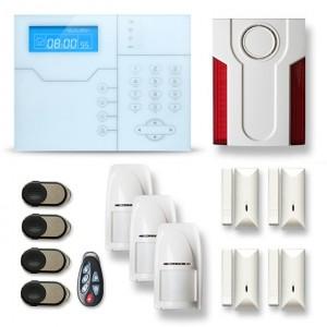Alarme maison sans fil RTC/IP et option GSM modèle SHB1
