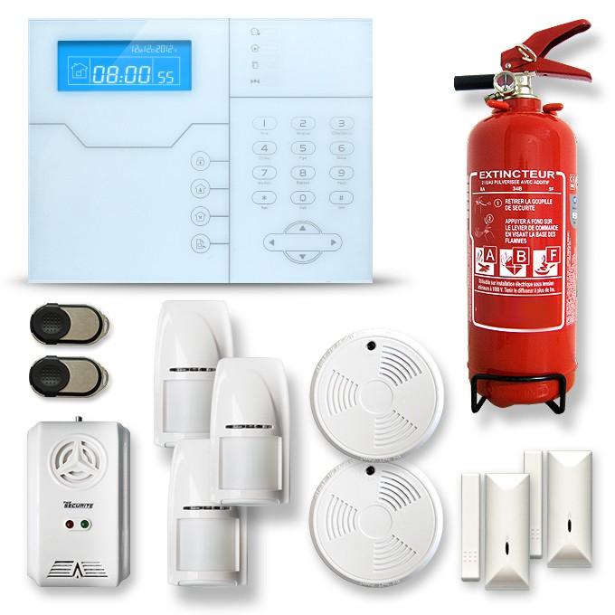 Alarme maison sans fil RTC/IP et option GSM modèle SHB9