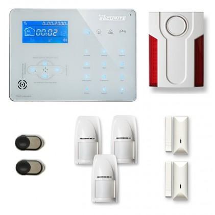 Alarme maison sans fil RTC/IP et option GSM ICE-B15