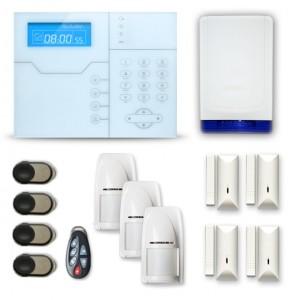 Alarme maison sans fil RTC/IP et option GSM modèle SHB avec sirène Autonome