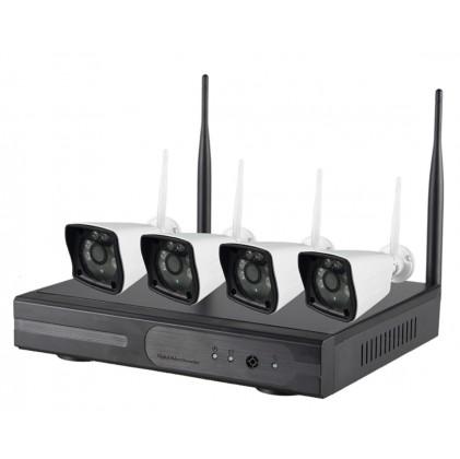 Système vidéosurveillance NVR Sans Fils 4 canaux + 4 caméras WIFI