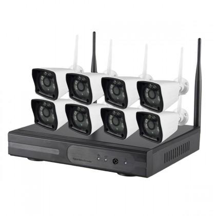 Système vidéosurveillance NVR 8 canaux + 8 caméras WIFI
