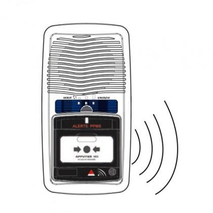 Tableau alerte PPMS type 4 avec sirène intégrée pour établissements scolaires