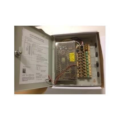 Boitier electrique entrée 110-220V, 9 sorties 12 V 10A