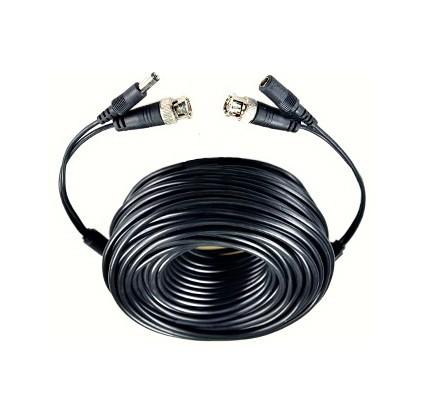 Câble de 15m pour caméra de vidéo-surveillance fiche bnc coaxial + alimentation