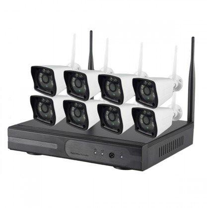 Système vidéosurveillance NVR 8 canaux + 8 caméras WIFI 2MP