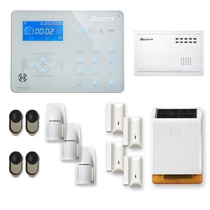 Alarme maison sans fil RTC/IP et option GSM ICE-B LONGUE DISTANCE SOLAIRE