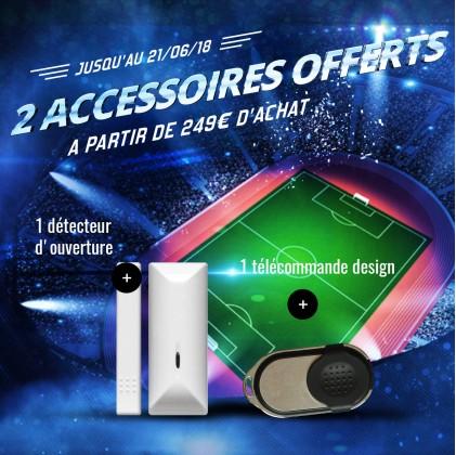Pack accessoires offert : Télécommande + détecteur d'ouverture
