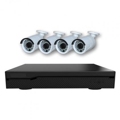 Système vidéosurveillance NVR 6 canaux + 4 caméras