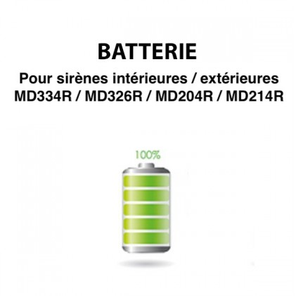 Batterie pour sirène