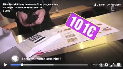 L'alarme DNB Tike Sécurité dans l'émission C au programme de France 2